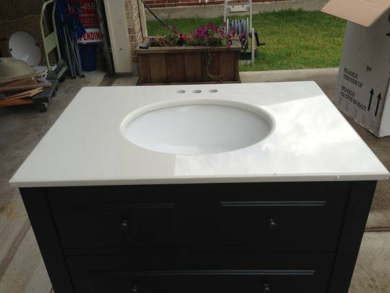 2 granitequartz vanity tops with sinks, 30x21 - $75 (Clear Lake)