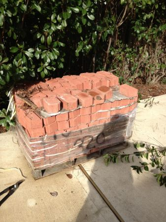 Red brick for edging - $250 (77095)