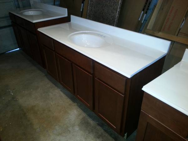 VANITY CABINETS BRAND NEW WITH TOPS - $499 ($299)