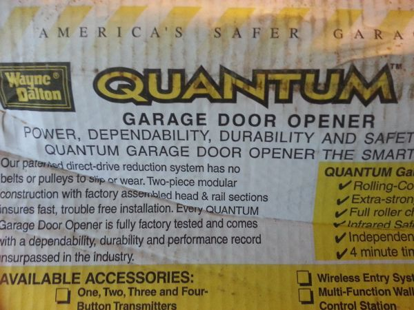 GARAGE DOOR OPENER ( QUANTUM BRAND ) NEW - $60 (baytown highlands)