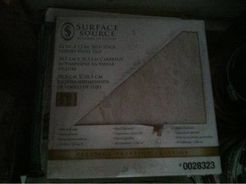 5 BOXES OF 12x12 LUXURY VINYL TILE FROM SURFACE SOURCE - $50 (katy)
