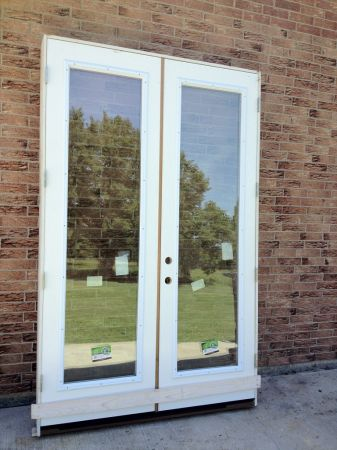NEW 8FT TALL FRENCH DOUBLE DOORS 0ne set left - $850 (tomball)