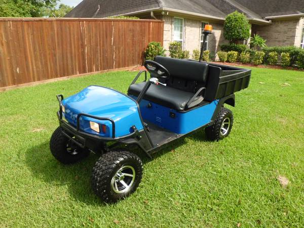 2004 EZGO gas Workhorse golf cart with dump bed (League City)