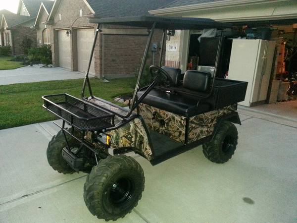 48 Volt Lifted Camo Club Car Golf Cart (Bad Boy Buggy) - $4800 (Cypress, TX)