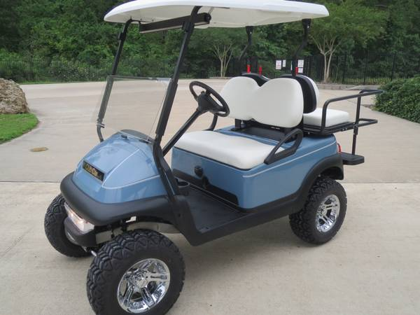 Blue White Club Car New 2013 Batteries Lift (montgomery,lake conroe area,hwy.105)