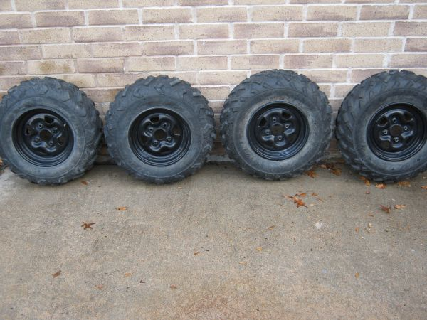 Used Yamaha Grizzly 660 rims and tires - $125 (Katy)