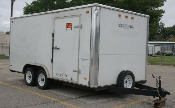 CARSON RACER ENCLOSED TRAILER - $5050 (DEER PARK)