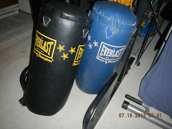 Everlast 40 lb punching bags (updated photos) - $30 (Old Town Spring (77373))