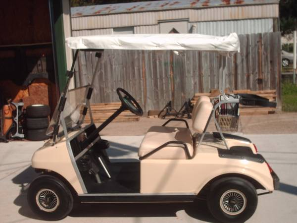 Club Car Golf Cart DS rain cover, lights, July 011 batteries - $1400 (Willis N Side of Lake Conroe)