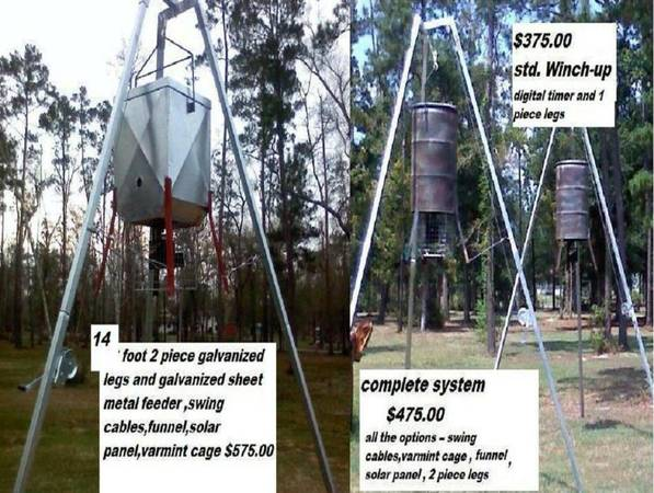 Winch-up deer feeders Tri Pod - $475 (Beaumont area)