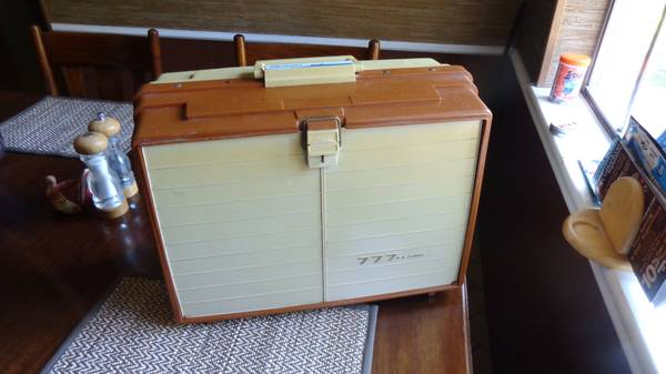 Vintage PLANO 777 tackle box with 6 sliding drawers - $30 ( Hwy 290 fm 1960 area)