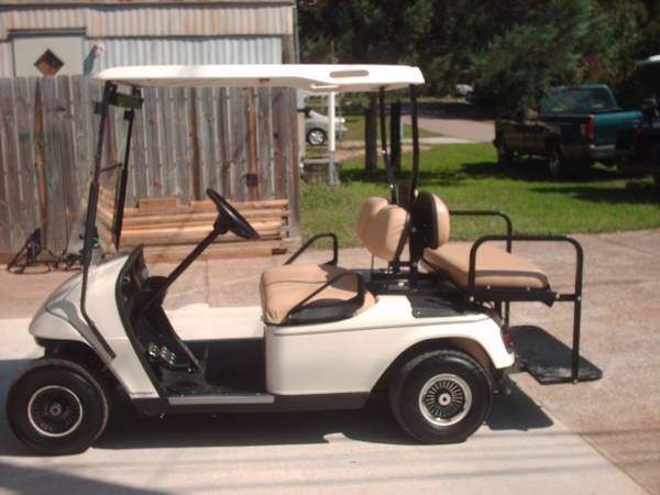 06 PDS EZ-GO Golf Cart with speed chip, lights, back seat - $2200 (Willis N Side of Lake Conroe)