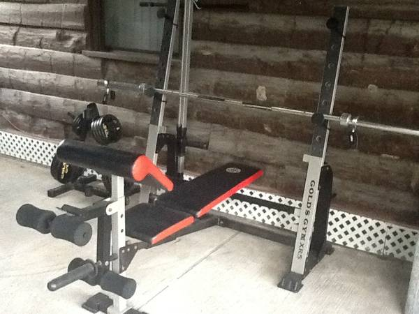 Golds Gym XR5 weight bench w190lbs - $350 (Baytown)