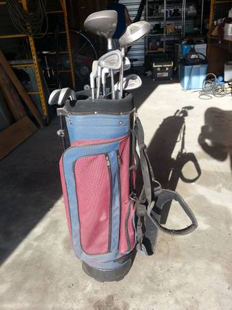 Tech Left Handed Golf Clubs with Golfmate Bag - $80 (League City)