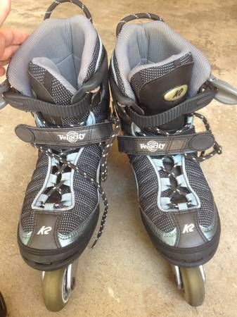 Womens Inline Skates Rollerblades  Bag, Size 9.5 - x002440 (Clear Lake)