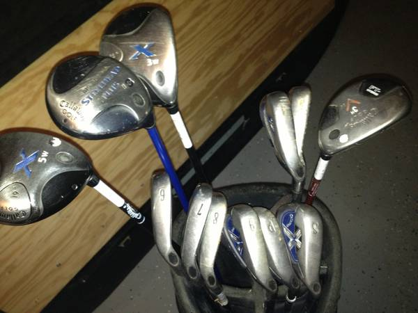 Golf Clubs $200OBO Callaway X18 Irons 4-SW 35 wood and rescue - $200 (The Woodlands)