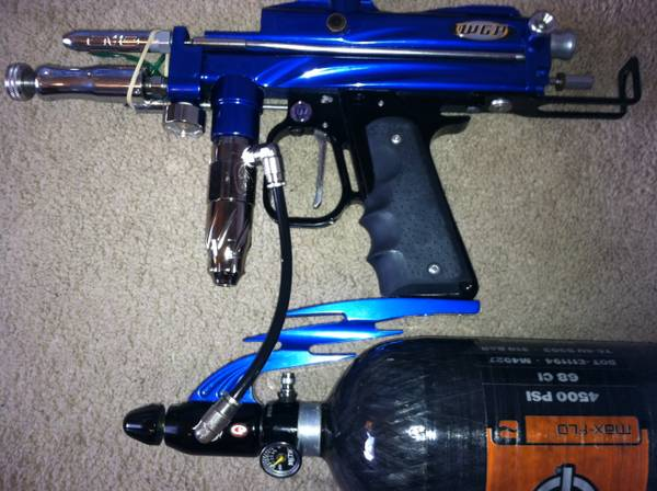 Autococker paintball gun, nitro tank, hopper, mask, extras - $250 (spring  tx)