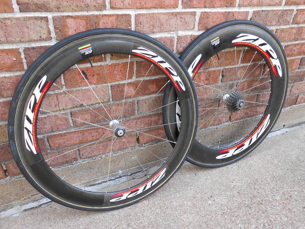 Zipp 606 wheelset 700c tubular(Rear 808 Front 404) - $1199 (Katy)
