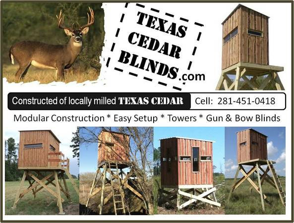 Deer Blind Stand 6x4 - $780 (Sealy)