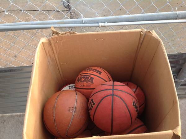 13 Used Basketballs some maybe leather, vintage - $95 (Westheimer and Dairy Ashford)