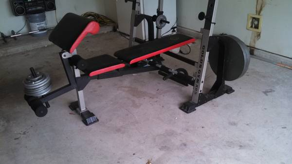 GOLDs GYM Bench  Weight Set XR-5 - $285 (NW HoustonKaty Area)