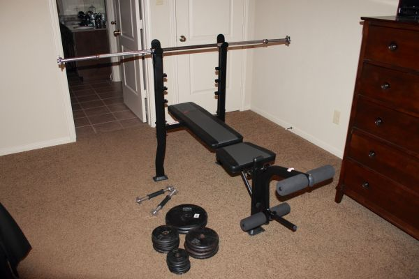 Weight Bench by Exertec w Weights - $100 (Needville, TX)