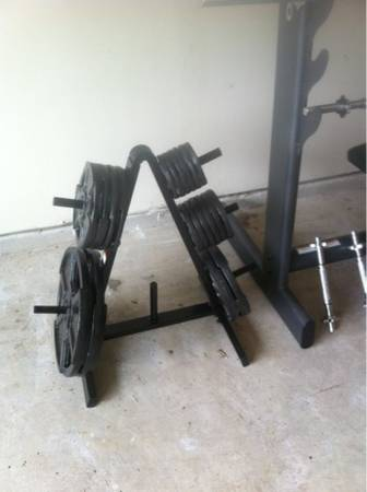 Weight bench weights - $200 (Barker Cypress IH 10)