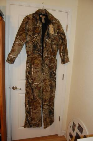 Russell Outdoor Camo Coveralls Medium - Brand new - $70 (Alvin, TX)