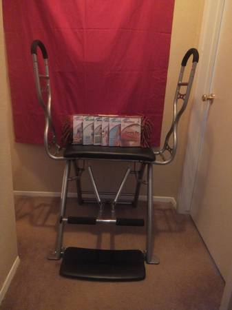 Malibu Pilates Pro Chair Deluxe and 6-DVD Total Body Workout Program - $100 (Westchase)