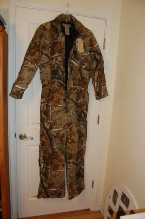 Russell Outdoor Camo Coveralls Medium - Brand new - $60 (Alvin, TX)