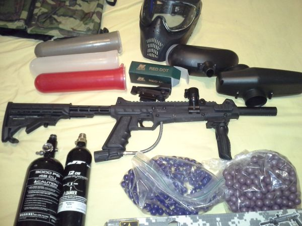 Official U.S. Army Carver One .68 caliber Paintball Gun Bundle - $210 (Spring,TX)