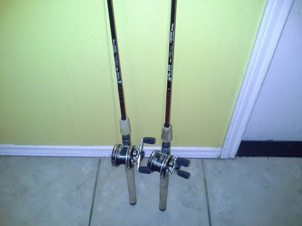2 all star fishing rods  - $1