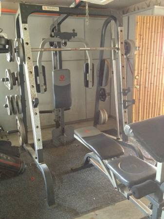 Standard Home Gym and Weights, good conditon - $500 (Deer Park)