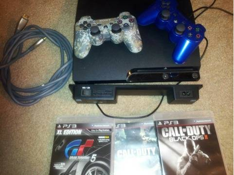 Ps3 slim 320gb 2 controllers, 5 games and more plus a Taurus 38 Special - $1 (Baytown)