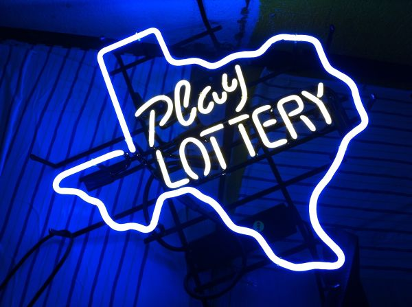 Texas, Play lottery neon sign cool man cave item (magnolia 77354)