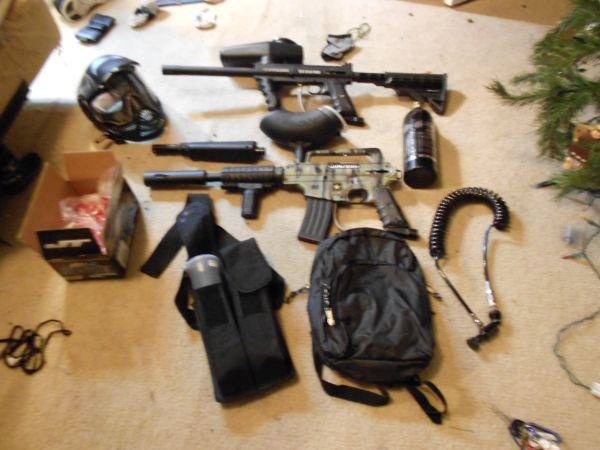 Tippmann paintball set - $325 (cypress)