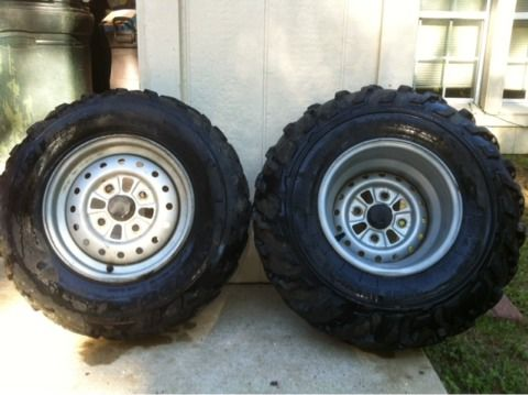 2006 stock honda atv rims - $100 (dayton)