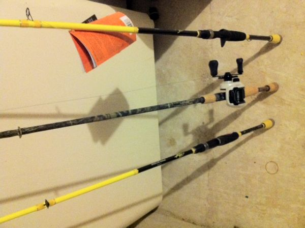 New Fishing Gear- 3 Rods and a Shimano Chronarch Reel - $200 (Cypress)