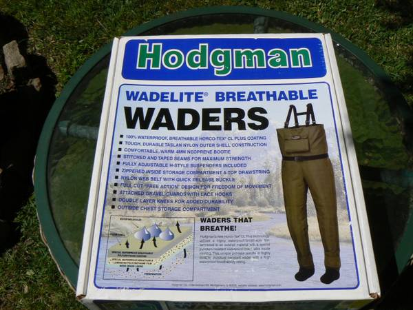 HODGMAN WADELITE BREATHABLE WADERS - $69 (BAYTOWN)