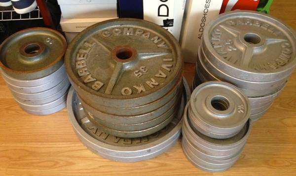 Ivanko OM plates olympic weights - $1 (Houston, TX)