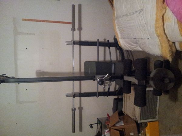 MARCY Weight Bench, Weight EZ Curl Bars, 380lbs Weights Rack - $450 (Spring, Texas)