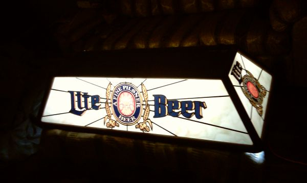 Vintage 80s Miller Lite Pool Table Light - $150 (Houston Northside)