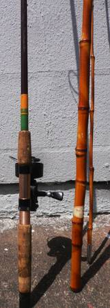 3 PCS - GARCIA MITCHELL REEL  KENCOR TENLOW  BAMBOO RODS - $49 (10901 NW FREEWAY 77092)