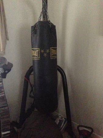 Punching Bag Heavy and speed bag combo - $175 (North Houston)
