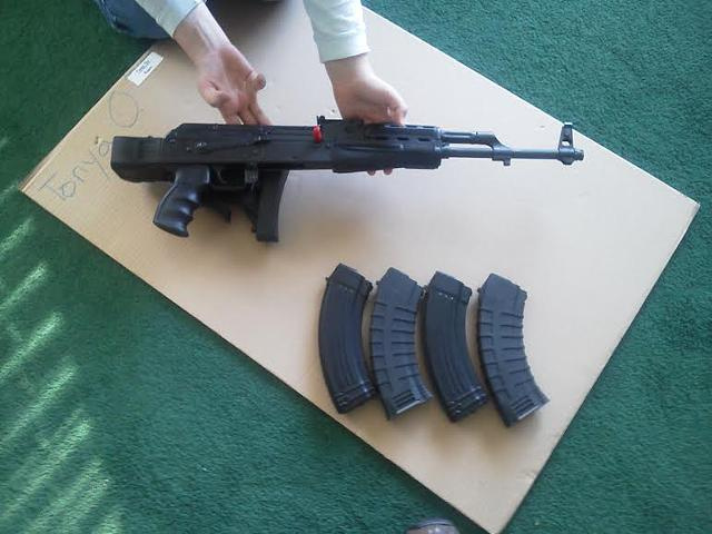 Half new AK 47.62 X 39mm for sale. text 234 300-2255