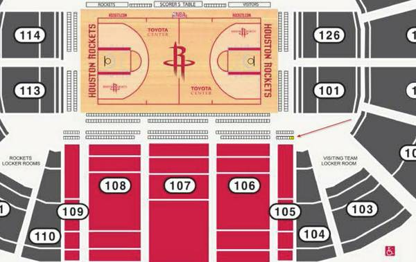 Houston Rockets vs. New Orleans Pelicans - Floor Seats - $425 (Toyota Center)
