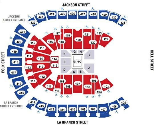 1-8 WWE TLC Wrestling Tickets 417 row 9 Center View - $70 (Bellaire)