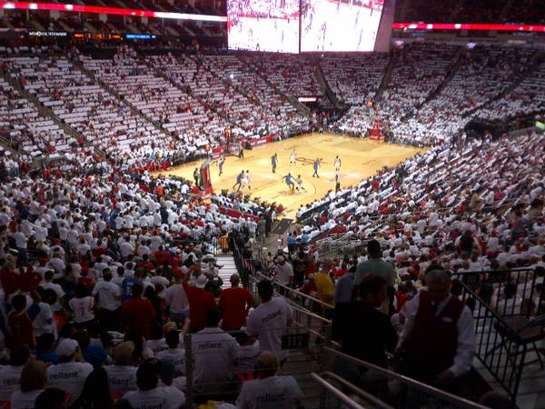 HOUSTON ROCKETS VS 76ERS LOWER LEVEL CORNER AISLE TICKETS PARKING - x00241