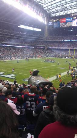 TEXANS BRONCOS 4 SEATS IN 113 YELLOW PARKING MAKE OFFER - $1 (SAN ANTONIO MAKE OFFER)