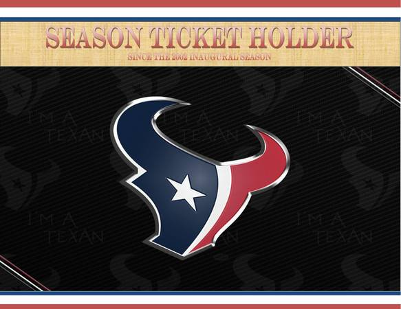 TEXANS vs PATRIOTS - 2 Lower-Level Tickets Plus 1 Red Lot Parking Pass - $450 (Houston and Tennessee)